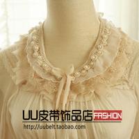 Sweet lace collar flower bead sparkling bead  collar necklace false collar