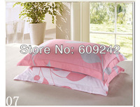 Free shipping,wholesale&retail 2013 spring new arrivals 53 colors for selection pillow case,100% cotton leaf print pillowcases