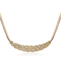 20pcs/lot  Waltz of Love 18K Platinum Plated Chokers Necklace Jewelry Austrian Crystal Elements Wholesale design  necklace