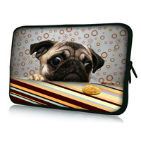 """Free Shipping Pug 7"""" Tablet Laptop Neoprene Sleeve Pouch Case Bag For 7.9"""" Apple Ipad Mini w/Cover"""