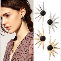A00185 fashion accessories earring star style personality punk stud earring factory direct fast free shipping 5 pairs/lot