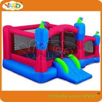 Backyard slide castle bouncer,inflatable castle bouncer including blower