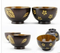 Free shipping good quality couple wooden bowls for kitchen sakura/ Maple Leaf bowls, perfect gift