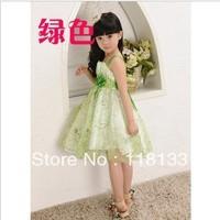 Wholesale -2013 new arrival High quality Children's Dress Cute floral Girl Dress Summer Dress 10pcs/lot