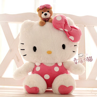 High quality 50 cm Hello kitty plush toys hello kitty doll polka dot child gift
