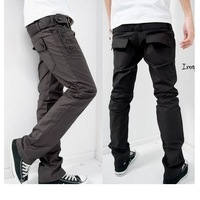 Mens Slim Fit Luxury Premium Casual Straight Cargo Trousers Pants W29-W34 E54