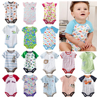 10pcs/lot jumper creeper cotton baby romper boy&girl's short sleeve romper infant bobysuit baby's clothes free shipping