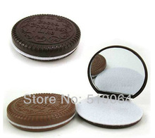 Mini Cute Cocoa Chocolate Mirror & Comb New .Pocket Mirror. E13775JU Lady mirrow set.lady gift(China (Mainland))