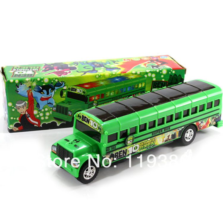 Free shipping The electric universal school bus toys  Children's Light sing toy car play house toys