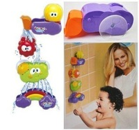 New Baby Bath Toy Waterfall Rainbow Set Water Poured Suction Cups Wall Tub