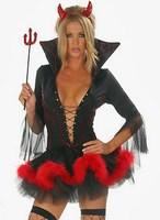 Halloween sexy demon' s cloth,Performance uniform,role play ,elastic.Free shipping!