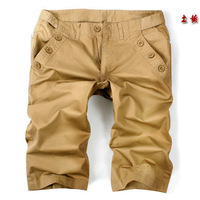 Free shipping button decoration men's casual shorts