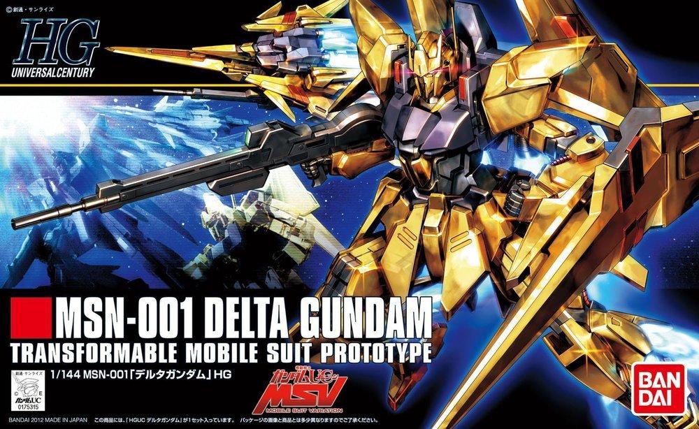 Original Bandai HG 1/144 MSN-001 Delta Gundam Model Kit Figure Brand New In Box Made in Japan(China (Mainland))