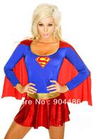 Halloween sexy superwoman dirndl,Performance uniform,role play ,elastic.Free shipping!
