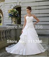 Ivory Or White Sweetheart Satin Wedding Dress Size 6-8-10-12-14-16
