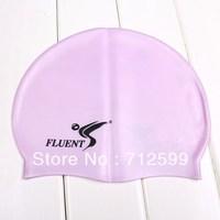 Fluent one piece silica gel swimming cap waterproof cap swimming cap swimming cap m-65-1