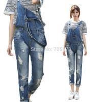 2013 spring  and summer denim women jeans ladies  loose denim jumpsuit pants hot sale size S M L XL XXL