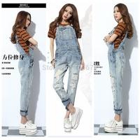hot sale  2013 loose denim  women suspenders jeans  ladies fashion women jumpsuit jeans