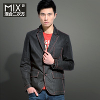 free shipping Mix2 male spring commercial men's casual slim denim suit male l31x01b1