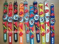 Free Shipping DHL 200 pcs/lot Spiderman Children Boys Kids Quartz Cartoon Watches