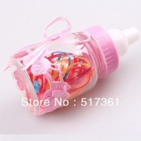 Bottle hair bands girls elastic hair bands girls hairbands rubber children hairbands candy colors free shipping