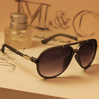 W12 Star Fashion Vintage Man And  Woman Sunglasses Metal Sunglasses Big Black Male Women's Large Rubric For Sunglasses