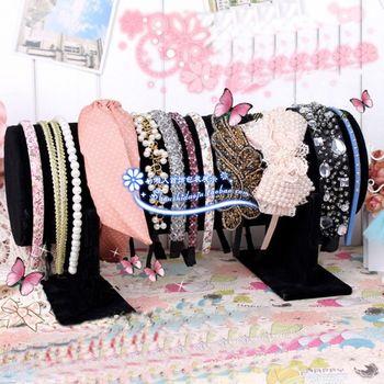 Big Small velvet headband rack hoop frame display rack hair pin storage rack jewelry holder accessories rack
