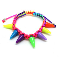Accessories punk neon candy color rivet bracelet female b1-047