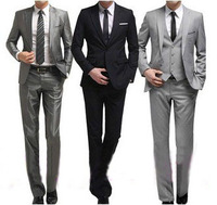 2014 new men's suits the groom man for wedding Slim three color matte  jacket + pant