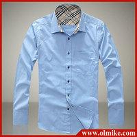 New Stylish Casual Slim Fit Long sleeve men's dress shirts Hot sale Big size:S-XXXL C244
