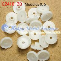 50pcs/lot 24T Module 0.5 plastic crown teeth, right-angle turn to C2410-2B free shipping