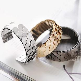 acessórios escama de peixe anel pulseira jóias moda pulseiras de largura feminino(China (Mainland))