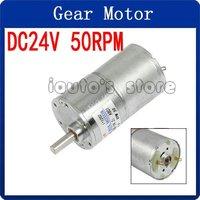 DC 24V 50 RPM 4.32kg.cm Torque 6mm Dia Shaft Magnetic Gearbox Electric Motor