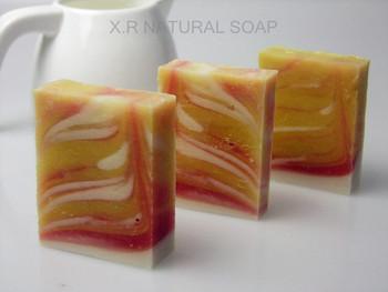 Grapefruit handmade soap cold soap full-body moisturizing whitening soap cosmetics small-sample