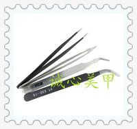 Nail art supplies diamond clip rhinestone  pincet nail art tweezer tool elbow anti-static