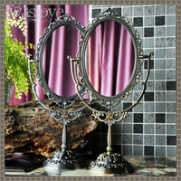 Classical fashion helen classic vintage cutout double faced makeup mirror table mirror vanity mirror