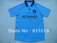 12-13 season Manchester City home blue thai quality soccer jersey embridery logo football shirt