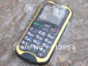 Free Shipping 1.8 inch Screen N638 mobile phone IP-67 100% Real Waterproof Dustproof Outdoor Old man phone