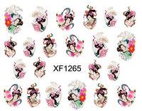 Nail Art Wraps Water Slide Decals Nail Tattoo Stickers - Geisha Girls Design Free Shipping