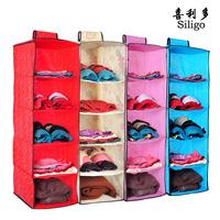 hont sale promotion Wardrobe storage bag clothing storage bag folding wardrobe hanging storage bag sorting bags 6 free shipping