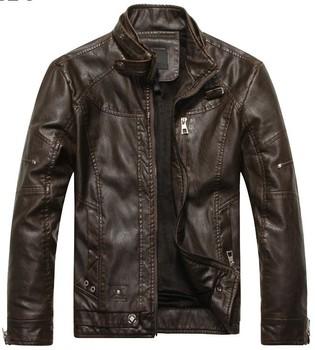 Free shipping Men motorcycle brand fashion sheep skin genuine leather leisure jacket coat shoulder board new 2013 fashion M-XXL