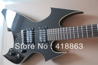 New product biggest, Rich special-shaped electric guitar can be altered according to requirement of black metal