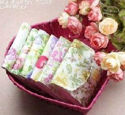 5 pcs/lot Sanitary Towel Napkin Pad Bags Purse Bag Cotton Pouch Holder Free shipping10019(China (Mainland))