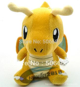 "Pokemon 7"" Banpresto Soft Plush High quality Doll New Dragonite Free shipping 1pcs/set"