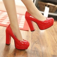 2013 spring and autumn sweet fashion wedding shoes bridal shoes thick heel ultra high heels shoes high-heeled shoes