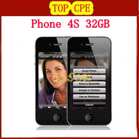 Factory Unlocked 4S original Dual-core mobile phone 32GB GSM WIFI GPS 8MP in sealed box dropshipping