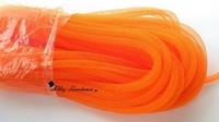 Skinny 8mm wide Tubular Crinoline polyester tube Millinery Hat Trim orange 120 yards a lot