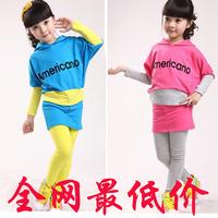 Children's clothing 2013 spring child clothes female child sweatshirt sportswear set spring new arrival big boy women's