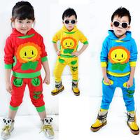 Cartoon children's clothing set male female child child clothes children casual sports set
