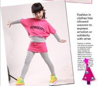 Children's clothing female child spring 2013 child sweatshirt sports set big boy women's kids clothes